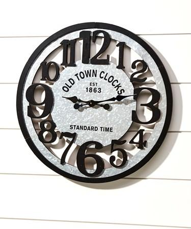 Metal & MDF Wall Clock