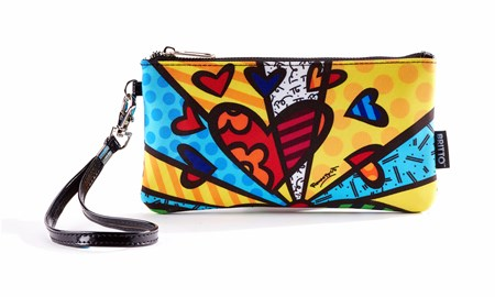 Romero Britto Wristlet Clutch (A New Day)