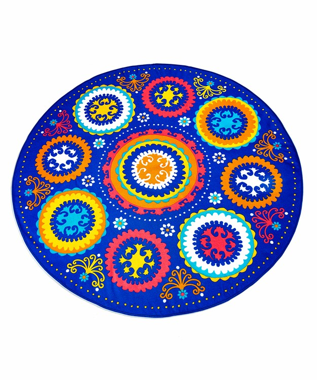Boho Fun Round Beach Towel