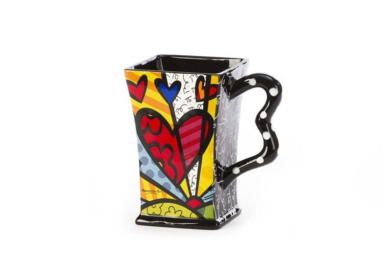 Romero Britto Square Mug, A New Day
