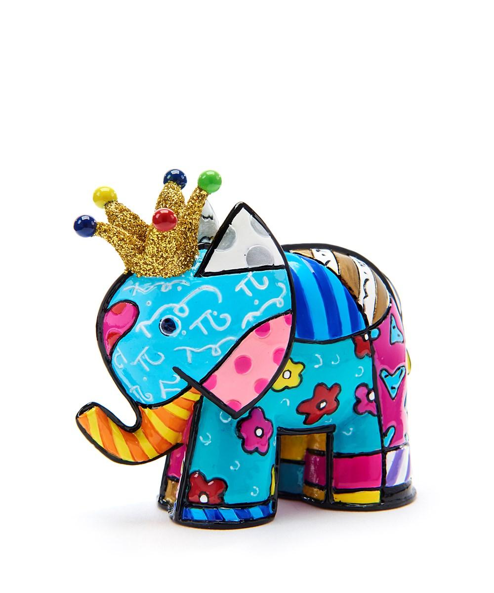 Romero Britto Miniature Lucky Elephant Design Figurine