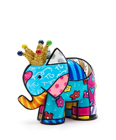 Romero Britto Miniature Lucky Elephant Design Figurine