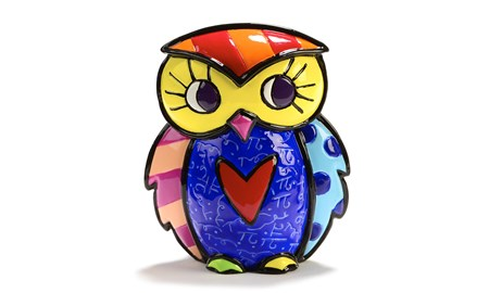 Britto Mini-Figurine, Owl