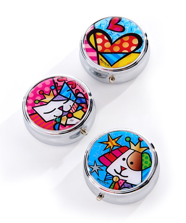 Romero Britto Pill Box, 3 Asst.