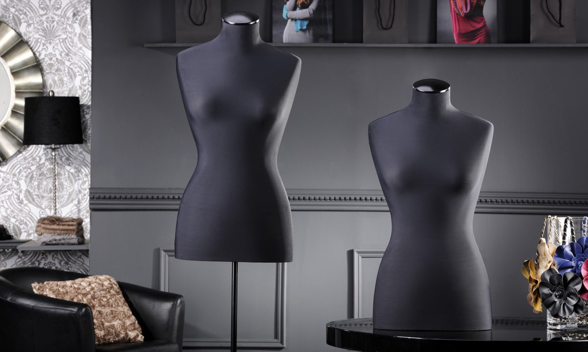 Fiberglass Bodyform Stand Black
