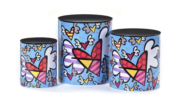 Britto Nested Metal Canisters 3pc. Set