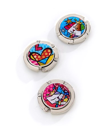 Romero Britto Purse Hooks, 3 Asst.