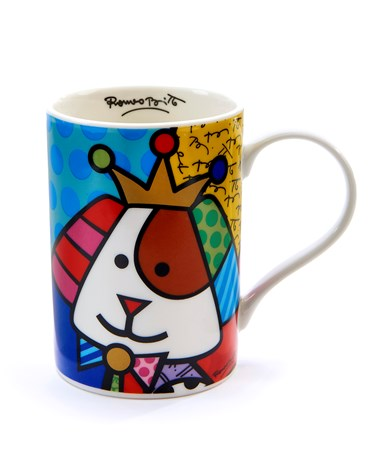 Romero Britto Dog - Royal  Design Mug