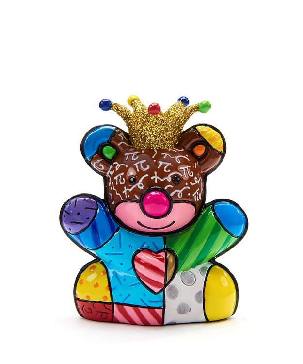 Romero Britto Miniature Happy Bear Design Figurine