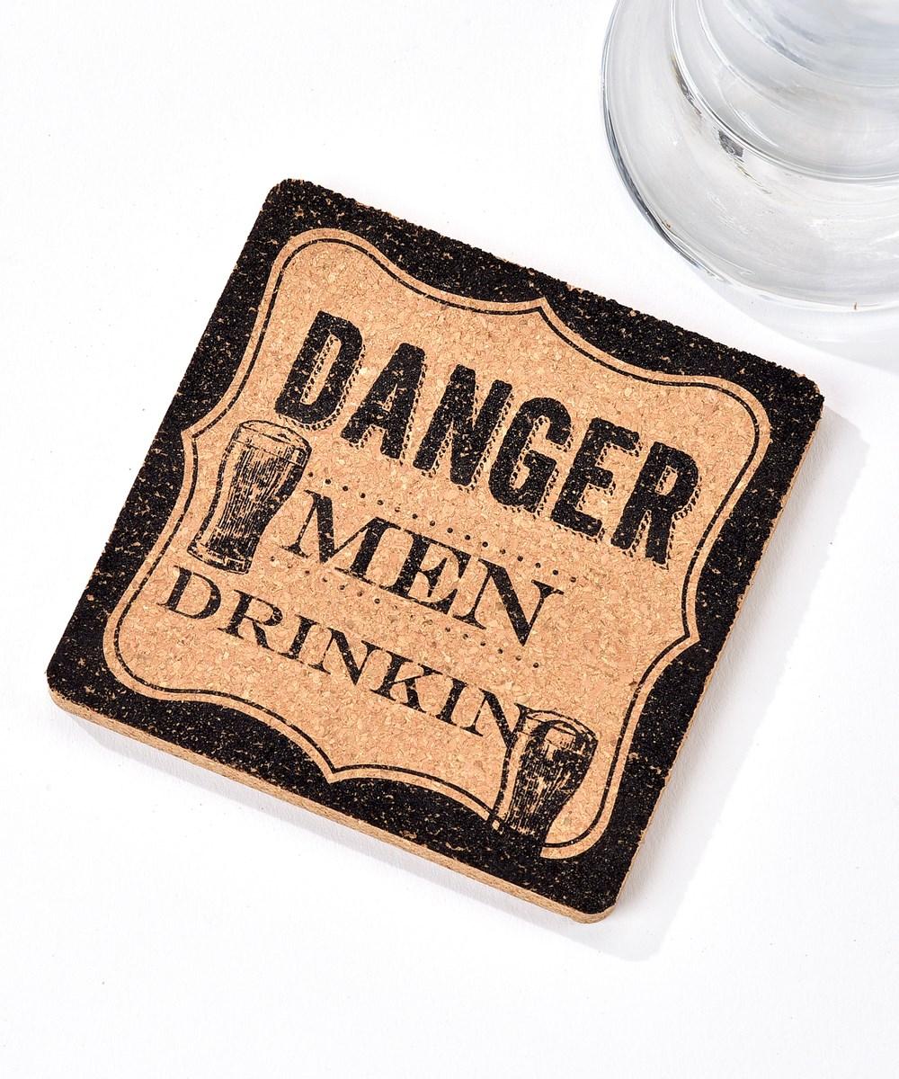 Cheers, Cork Coaster (Men Drinking)