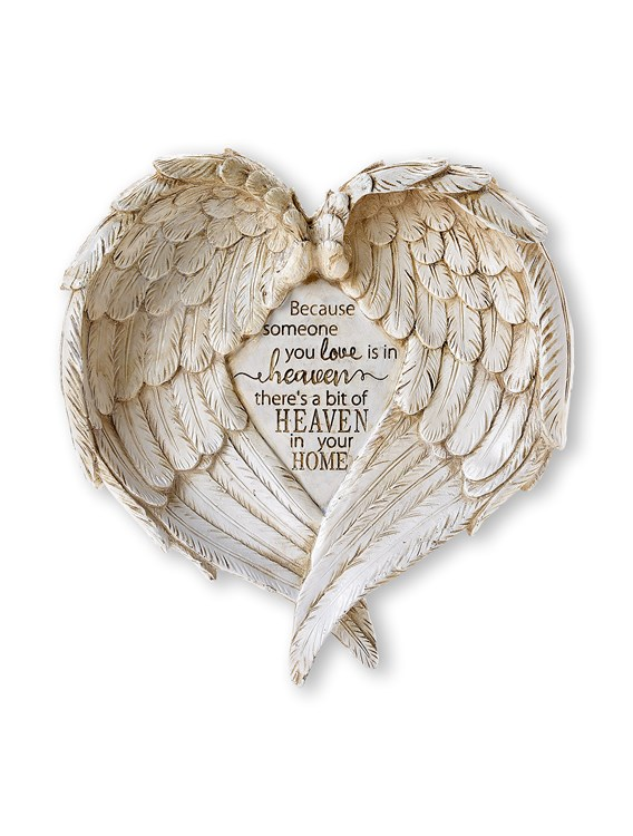 Memorial Collection, Angel Wings Design Wall Plaque