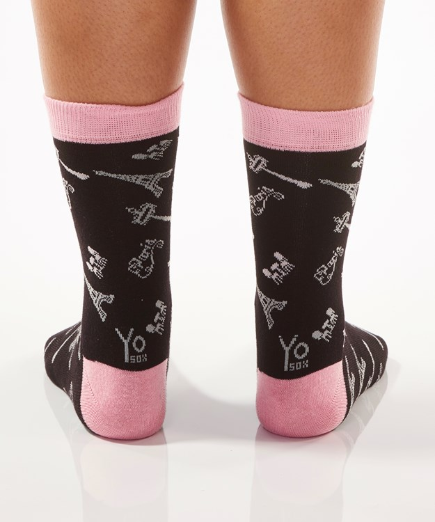La Chic, Women's Crew Sock, Paris Design