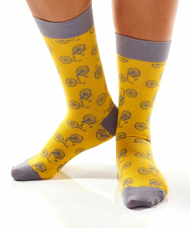 Let's Ride, Women's Crew Sock, Bicycle Design