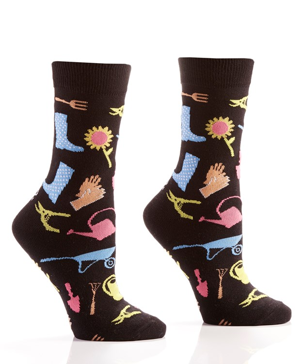Can You Dig It, Women's Crew Sock, Gardening Design