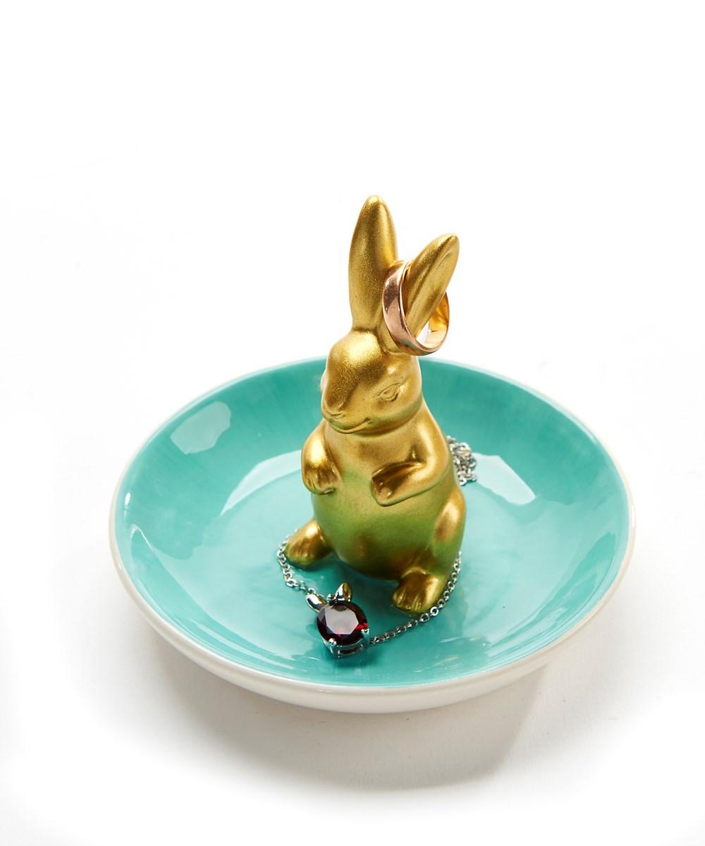 Bunny Design Ring Dish, 3 Asst.