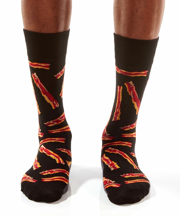 Makin' Bacon, Men's Crew Sock, Bacon Design