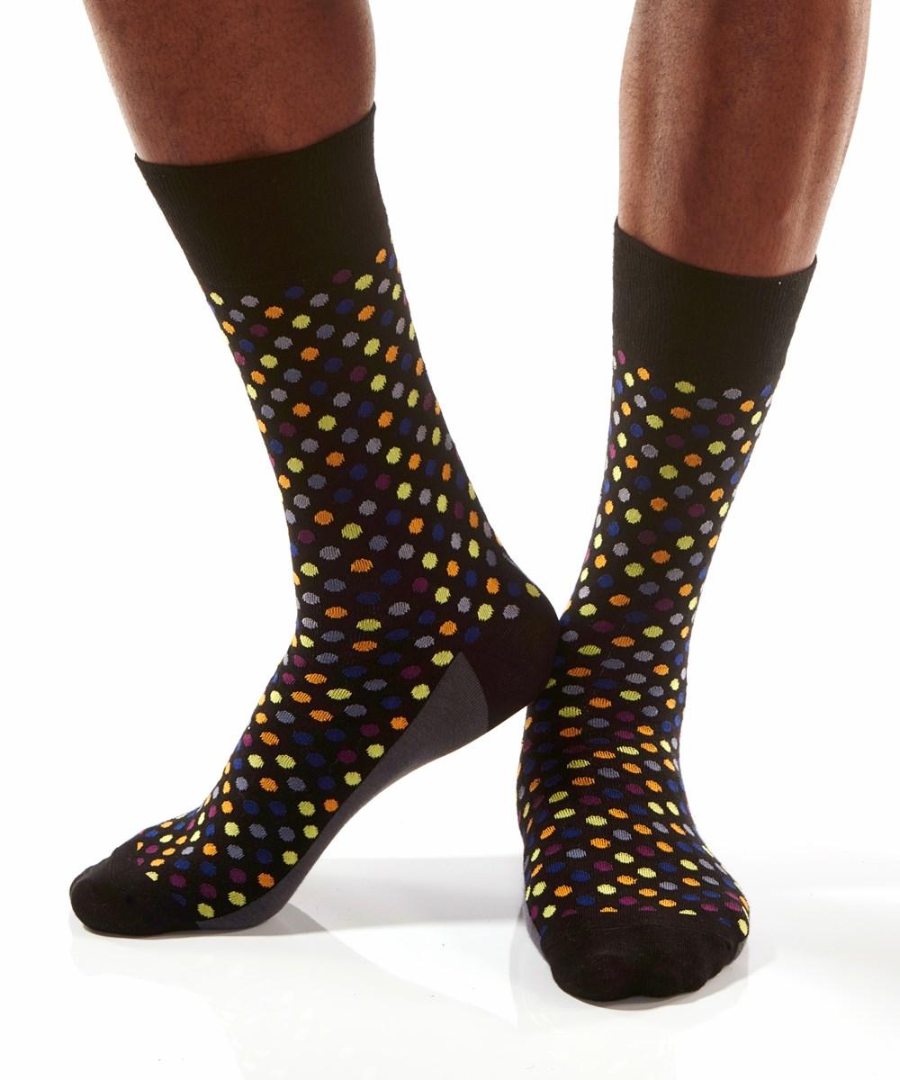 Lite-Brite, Men's Crew Sock, Multi-Color Dots
