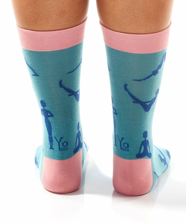 Zen, Women's Crew Sock, Yoga Design