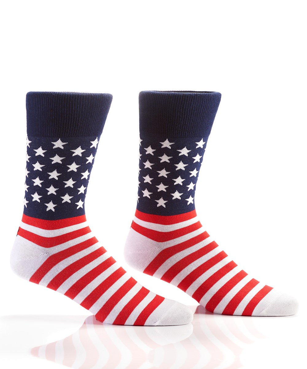 Grand Ol' Flag, Men's Crew Sock, Stars & Stripes
