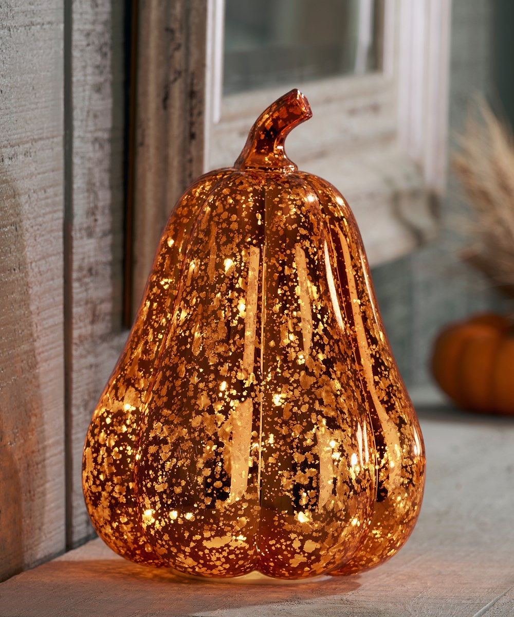 LED Lighted Pumpkin Design Decor