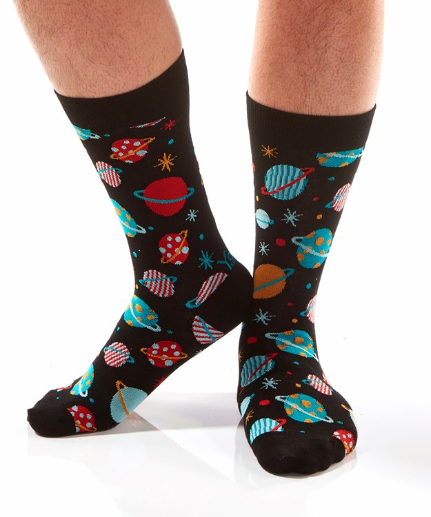 Galaxy, Men's Crew Sock, Galaxy