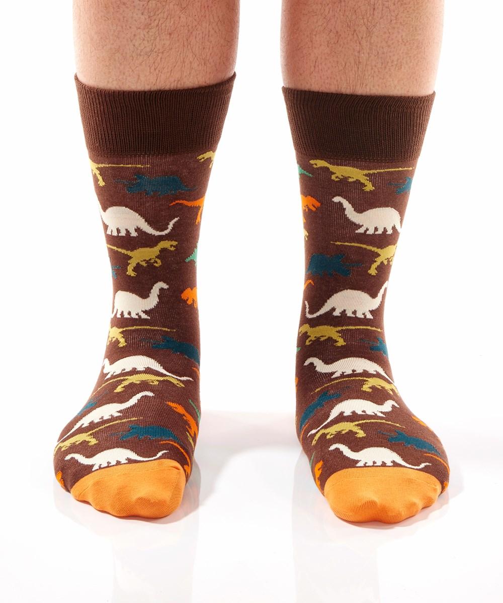 T-Rex, Men's Crew Sock, Dinosaurs