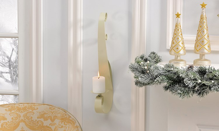 Iron Pillar Candle Wall Sconce