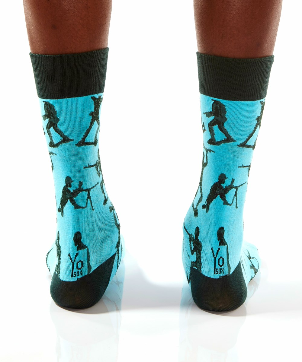 Men's Crew Sock, Toy Army Soldiers