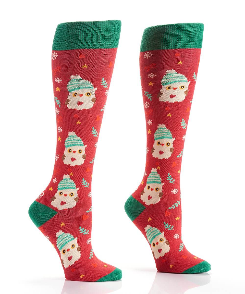Women's Knee-High Sock (Owl)