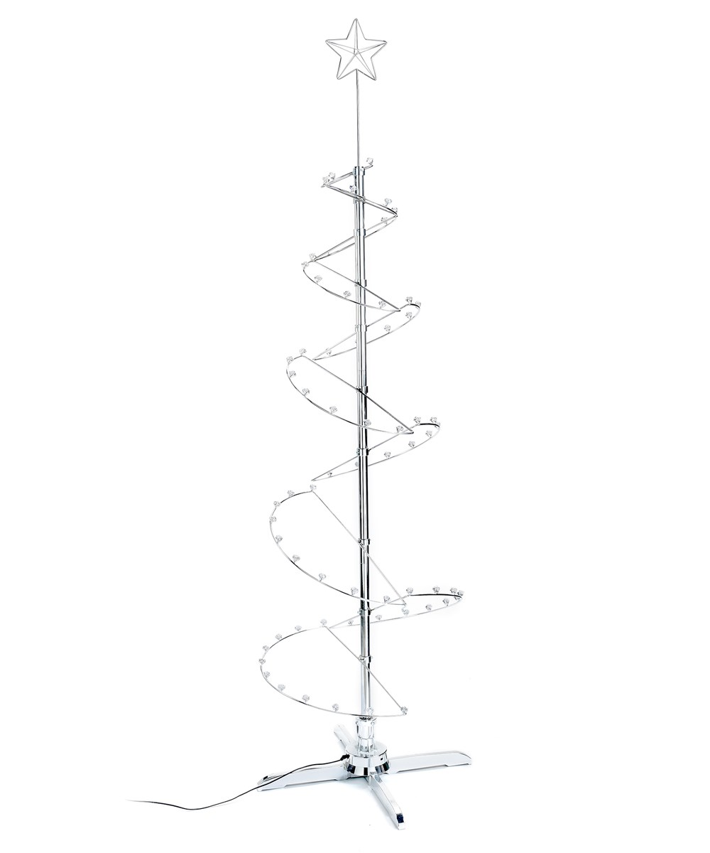 Silver Revolving Tree Displayer, (79in-Tall)