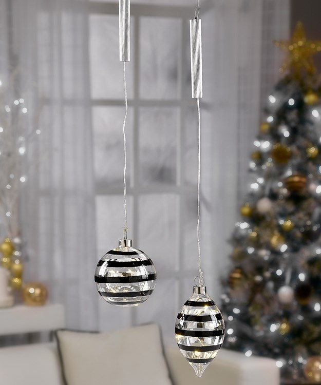 Christmas Ornaments, 2 Asst.