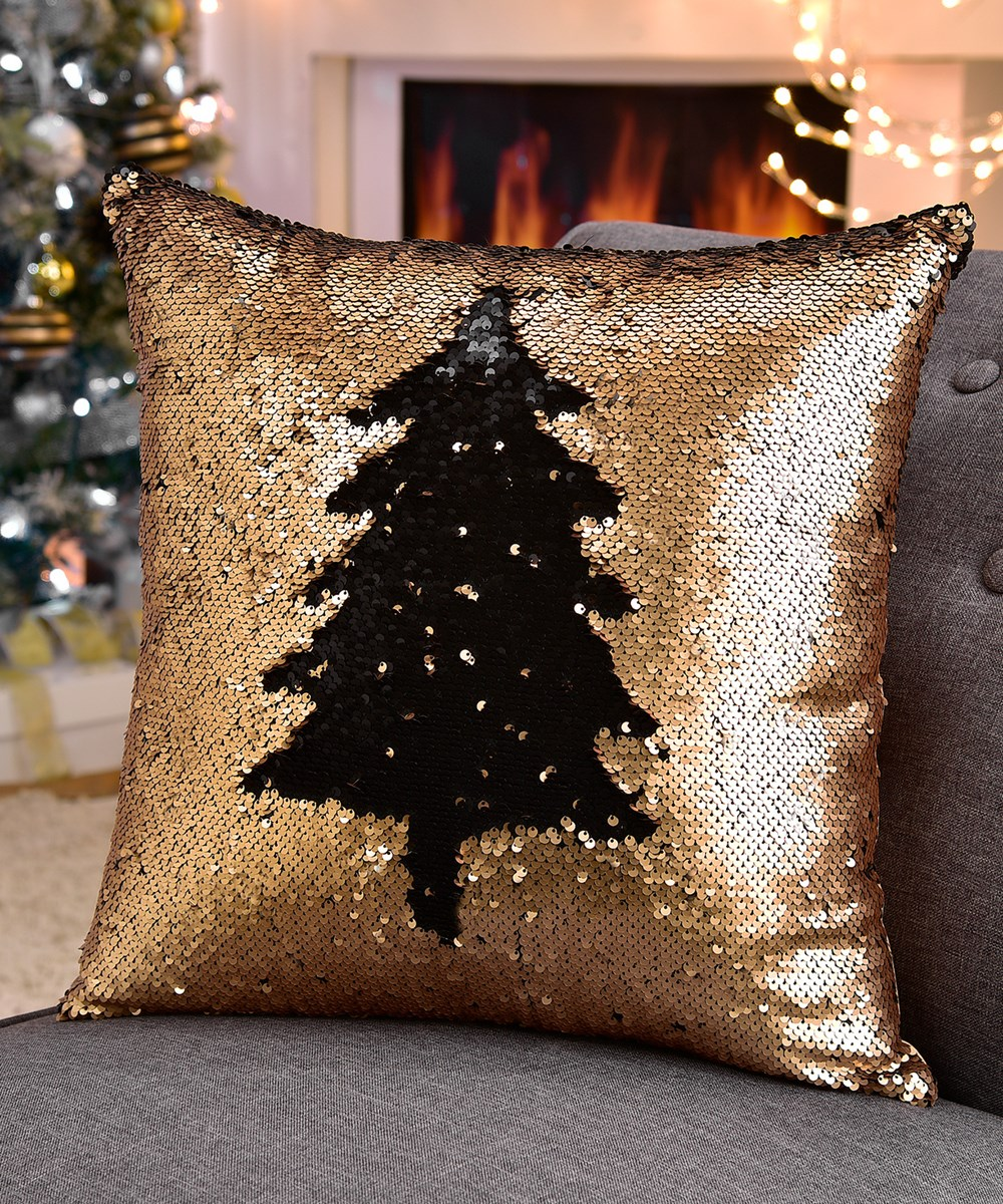 Gold Sequined Pillow