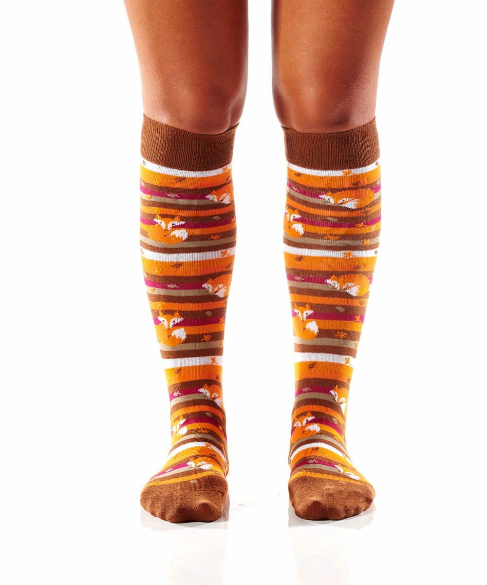 Women's Knee-High Sock (Fox)