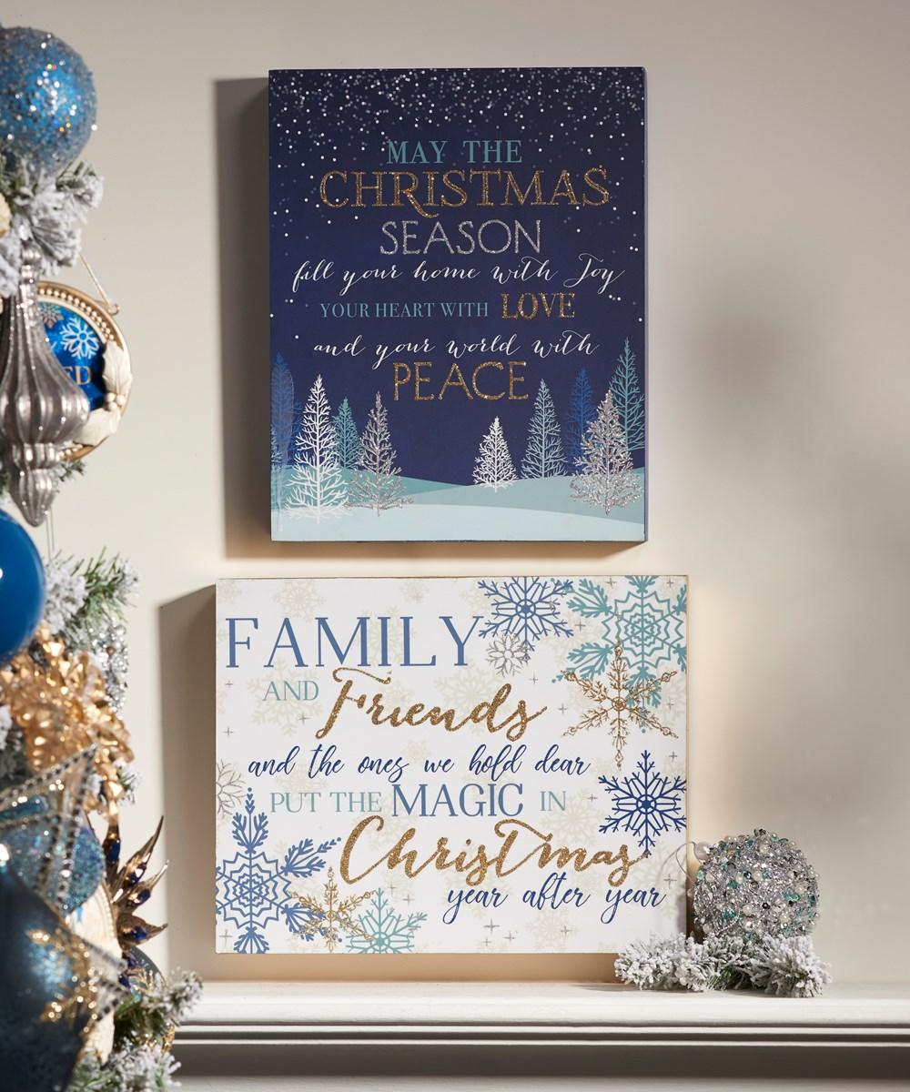 Christmas Wall Plaques, 2 Asst.