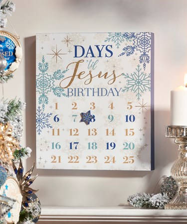 Magnetic Advent Calendar Design Wall Plaque