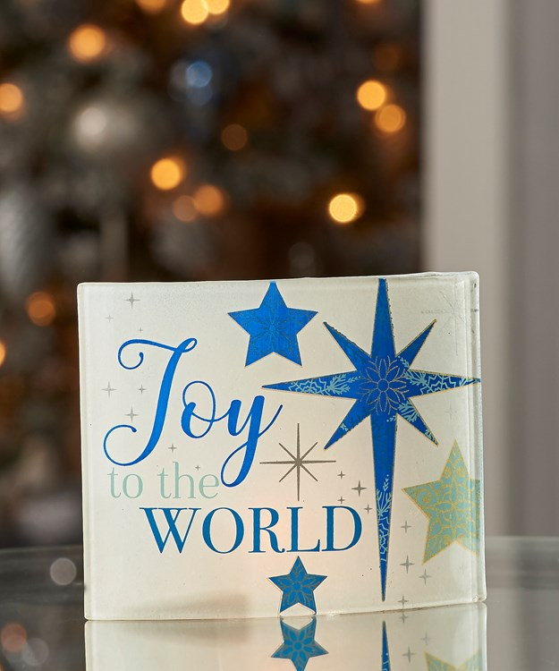 Tealite Candle Screen - JOY TO THE WORLD