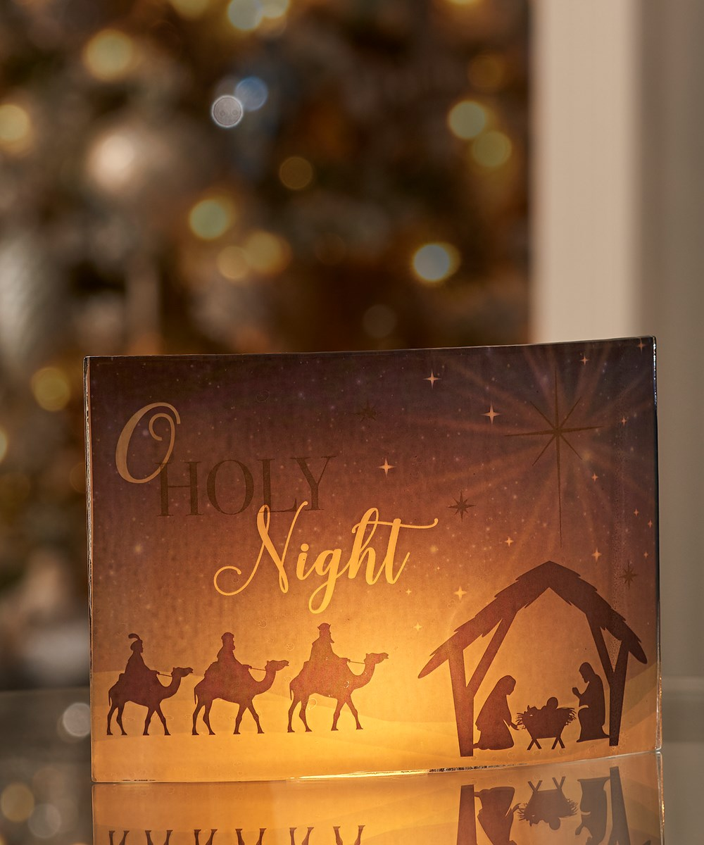 Tealite Candle Screen - O HOLY NIGHT