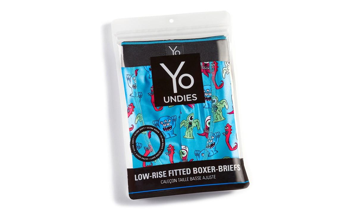 Yo Undies Men's Trunk Style Briefs (S), Whales