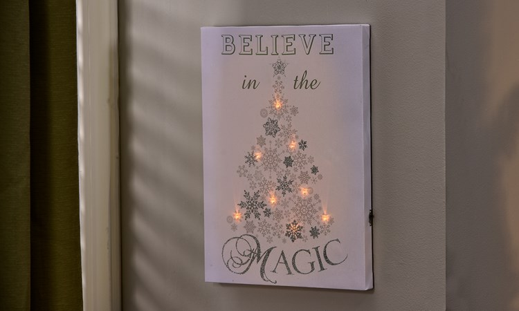 LED Lighted Canvas Print - Magic w/Timer Function