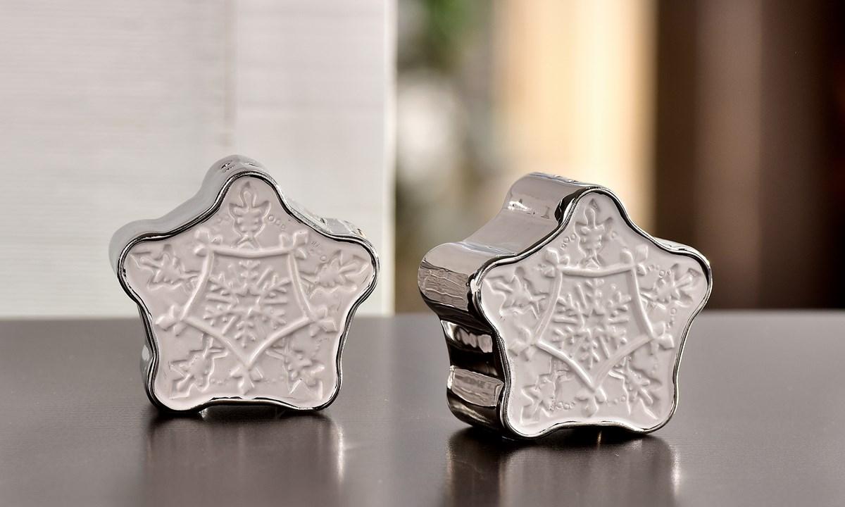 Snowflake Design Salt and Pepper Shakers