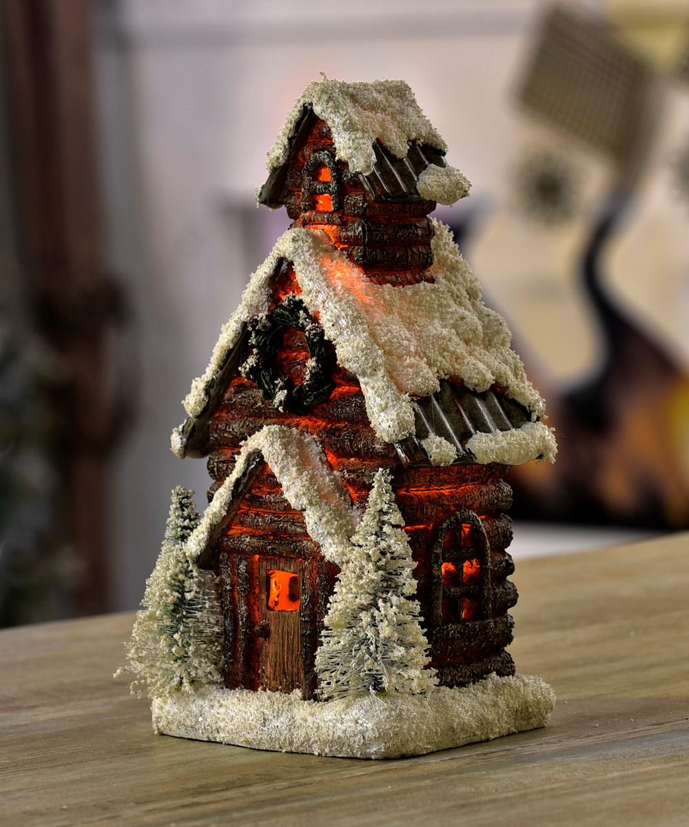 LED Lighted Christmas House Design Decor
