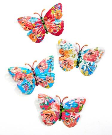 ButterflyWallDecor4Asst
