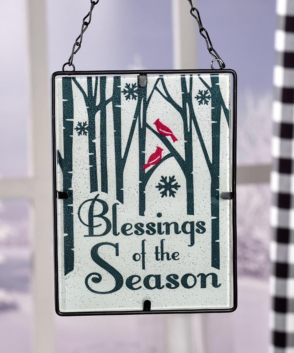 Stained Glass Design Suncatcher - Blessings