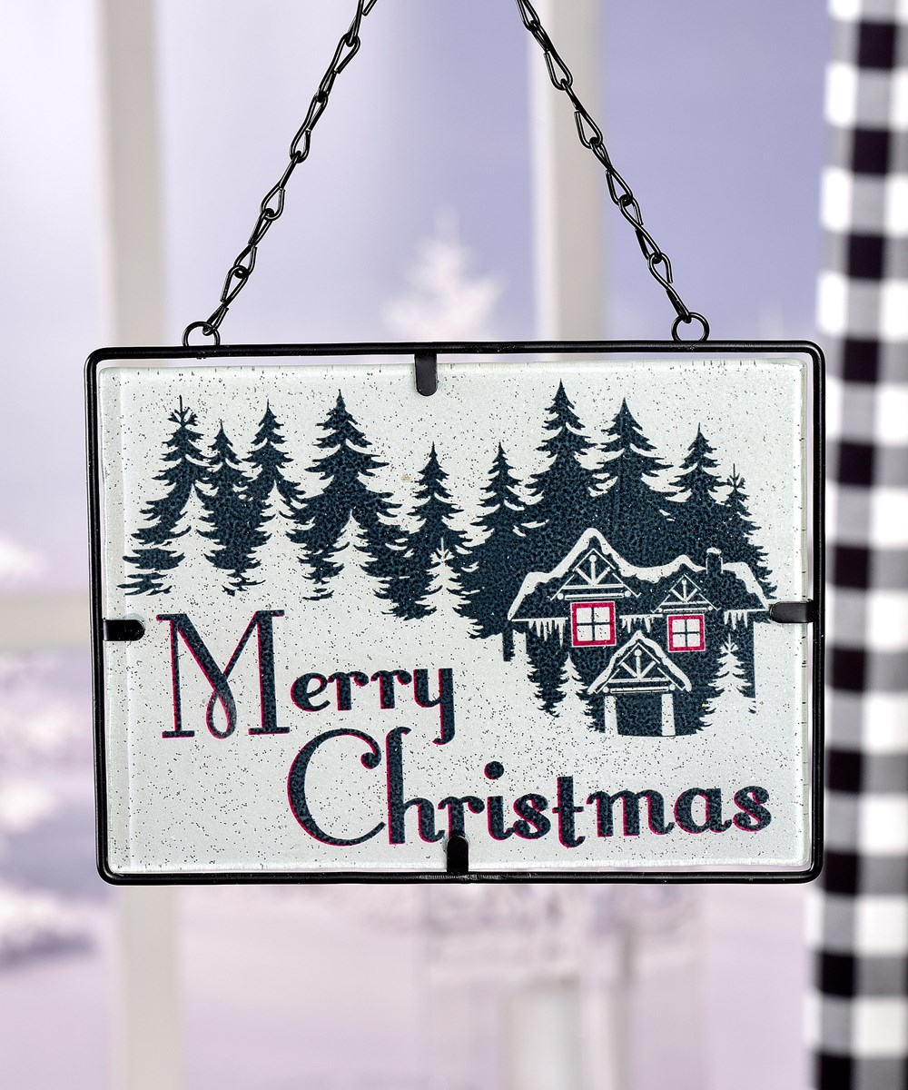 Stained Glass Design Suncatcher - Christmas