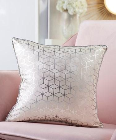 Pillow w/Marble & Foil Print