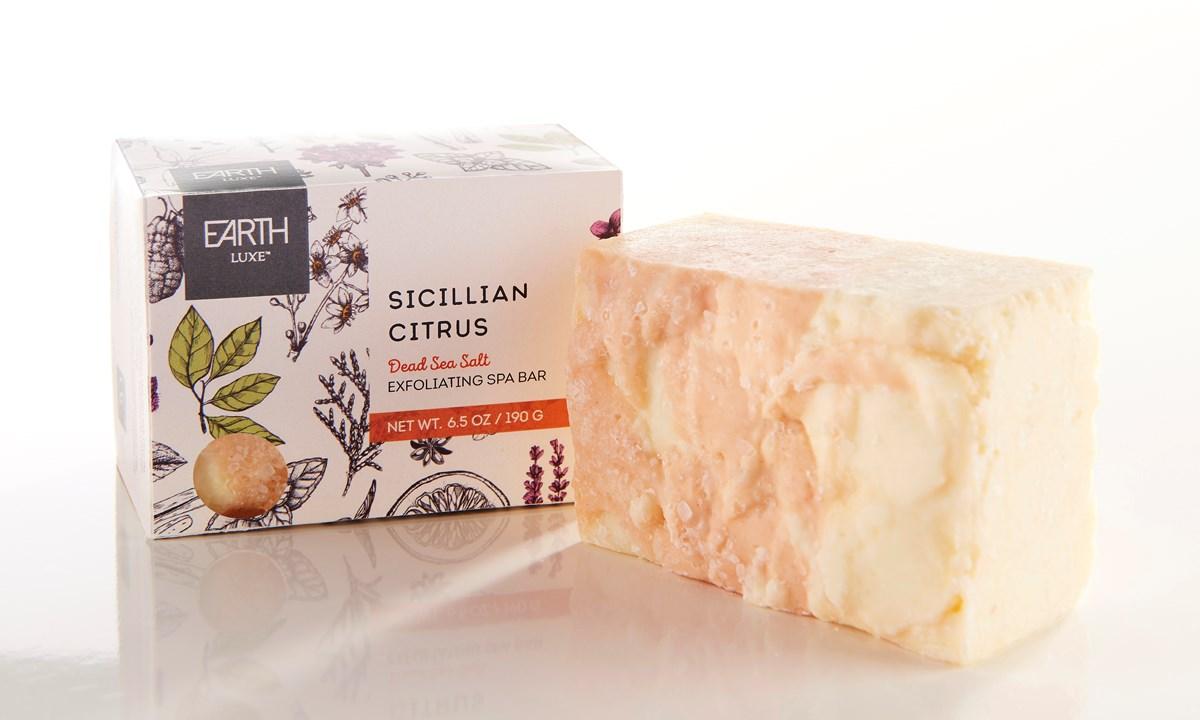 Dead Sea Salt Sicilian Citrus All Natural Soap