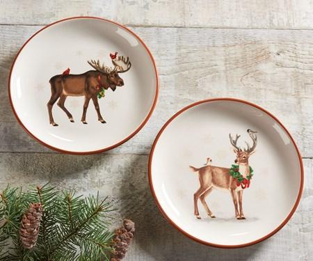 Forest Animal Design Plate, 2 Asst.