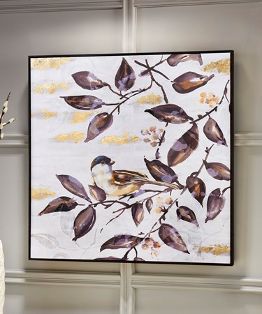 CanvasOilPrintBirdOnBranch