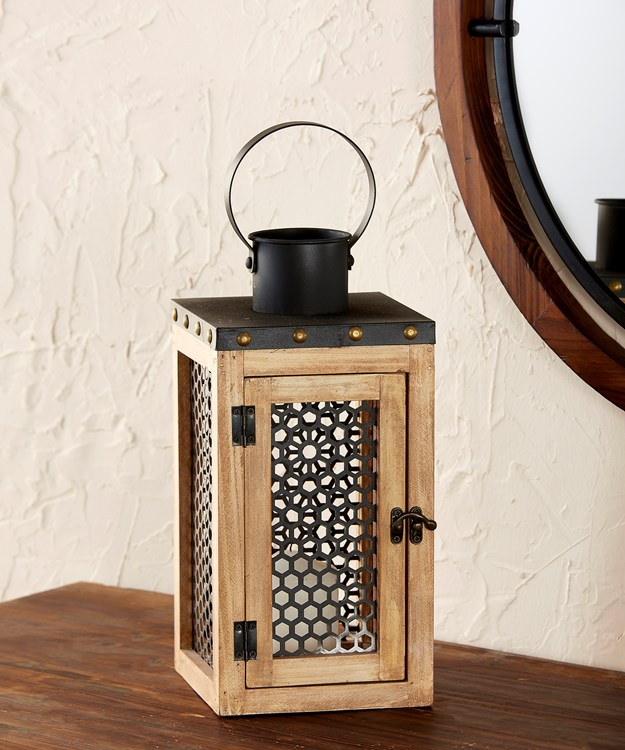 Wood & Metal Lantern