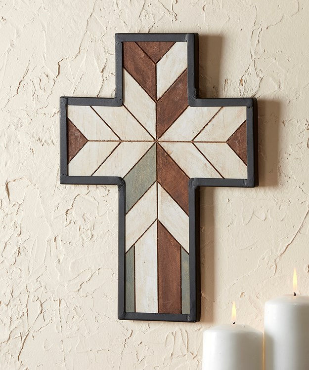 Geometric Pattern Wall Cross